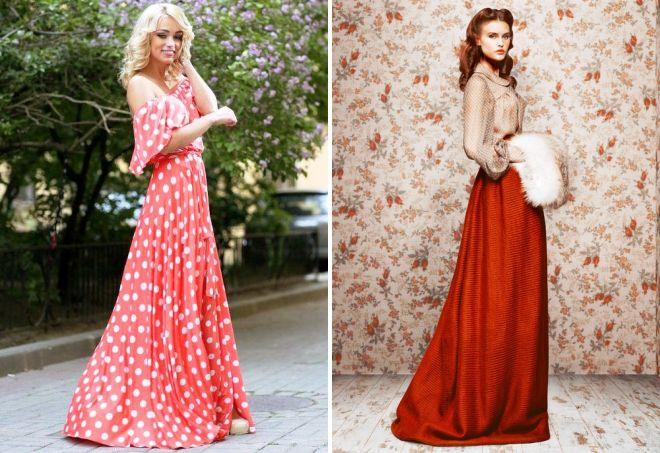длинные ретро платья