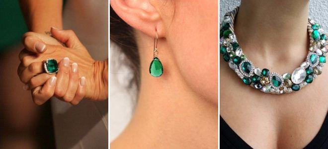 48e0714a8502 Женские украшения с изумрудами в золоте и серебре – кольца, подвески ...