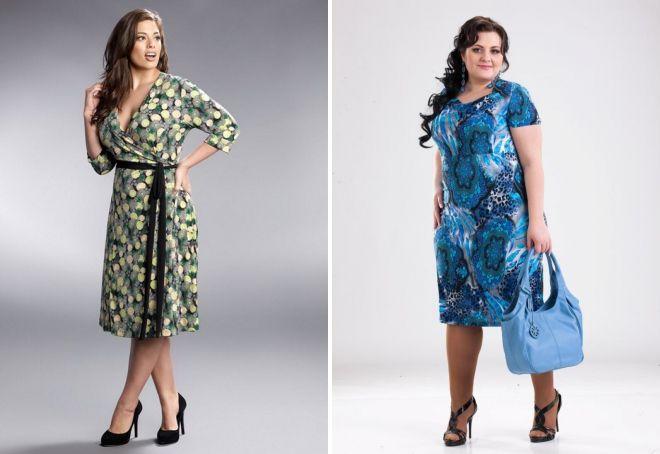 6f316b74c98 Трикотажные платья для полных – самые модные и стильные наряды