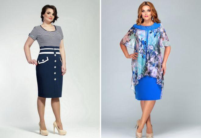 красивые трикотажные платья для полных