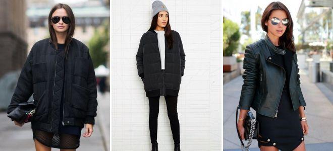 b6e77e967cd Женская черная куртка – кожаная и джинсовая