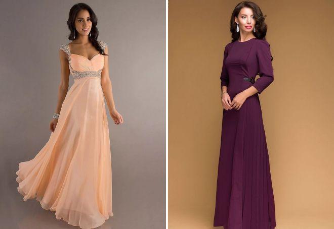 длинные платья в пол