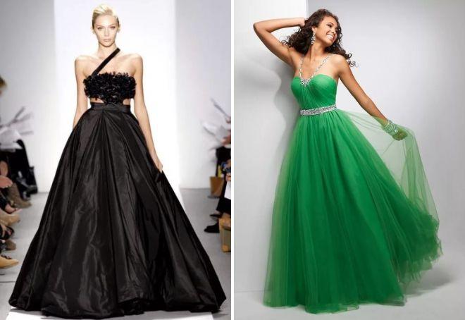 длинные пышные платья