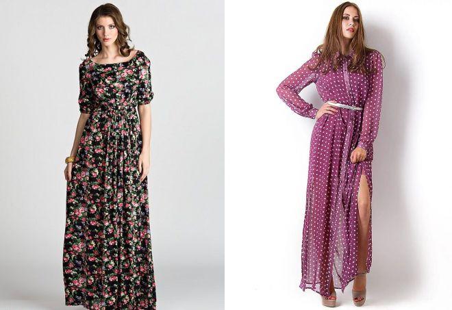 0a35450bac35 Модные красивые длинные платья в пол – черные, белые и красные ...