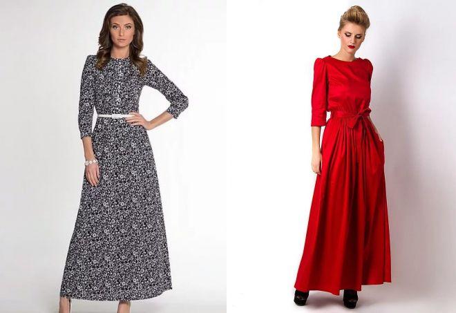 длинные повседневные платья