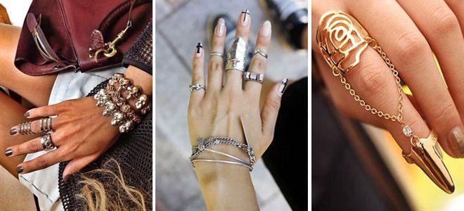 Золотые и серебряные фаланговые кольца на одну, две фаланги, набор ... e6ef8b444e7