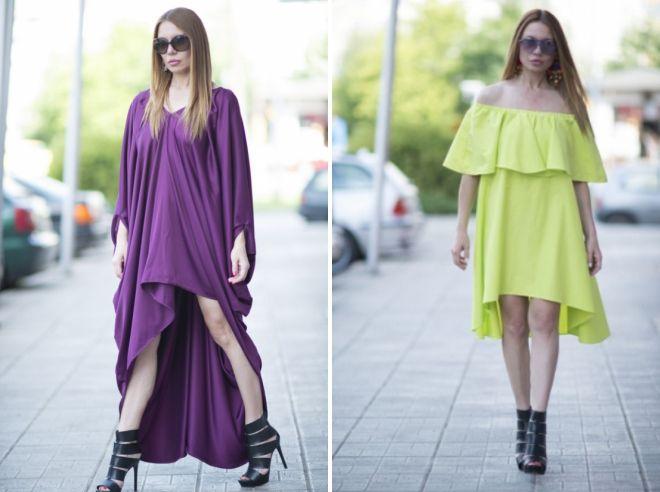 асимметричное платье-туника