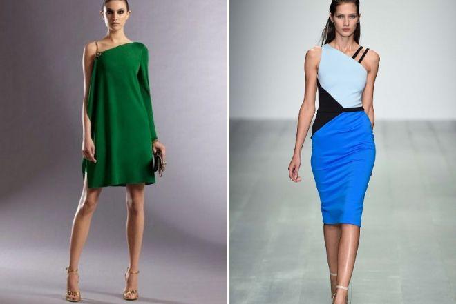 модные асимметричные платья