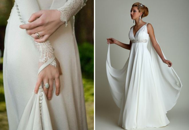 Модные платья со шлейфом – вечерние и повседневные, длинные и мини 3a7ce347915