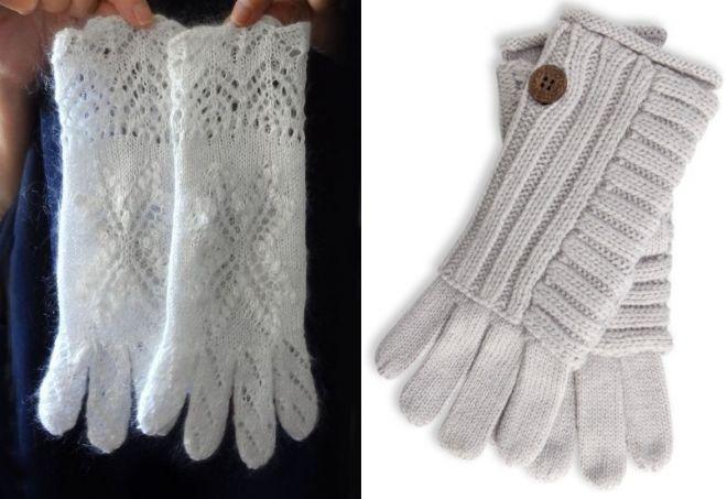 gants blancs pour femmes