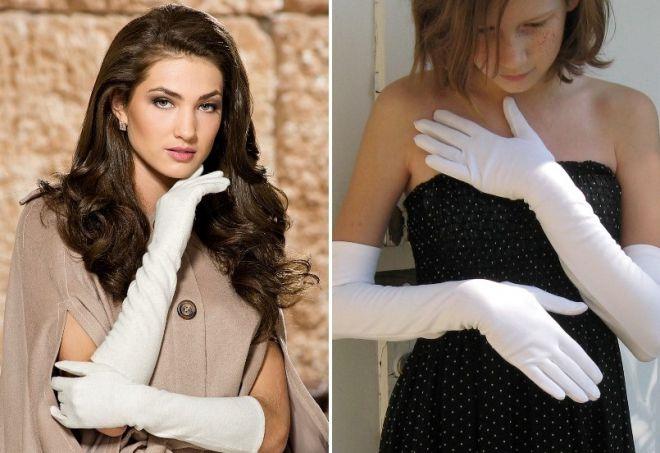 gants blancs à la robe
