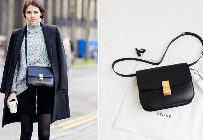 32b4480f7fea Модная женская черная сумка – клатч, через плечо, классическая ...