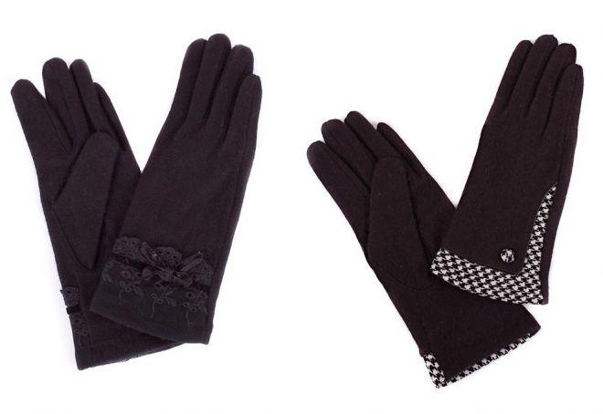 gants noirs pour femmes