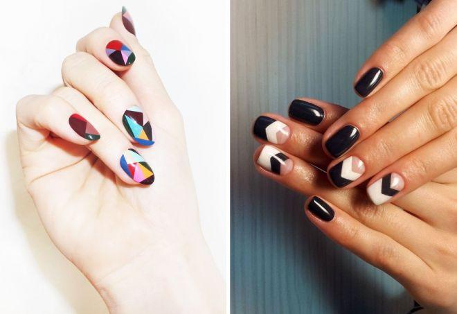 Дизайн ногтей с геометрией фото