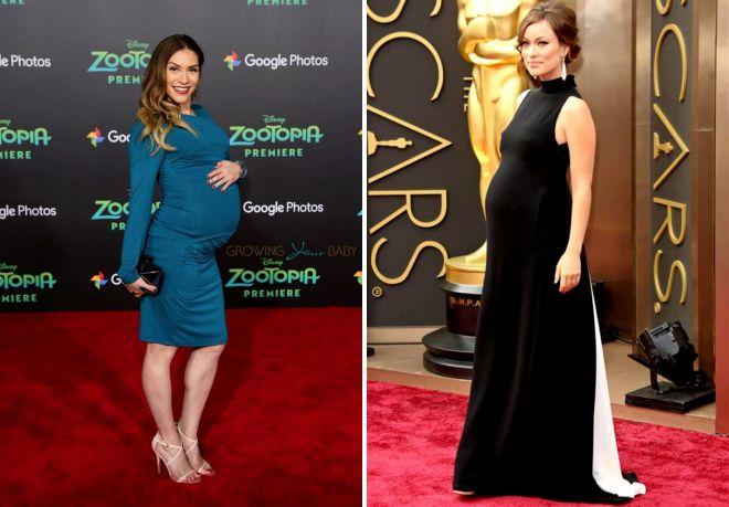 9f1908f2e0b Модные длинные и короткие вечерние платья для беременных