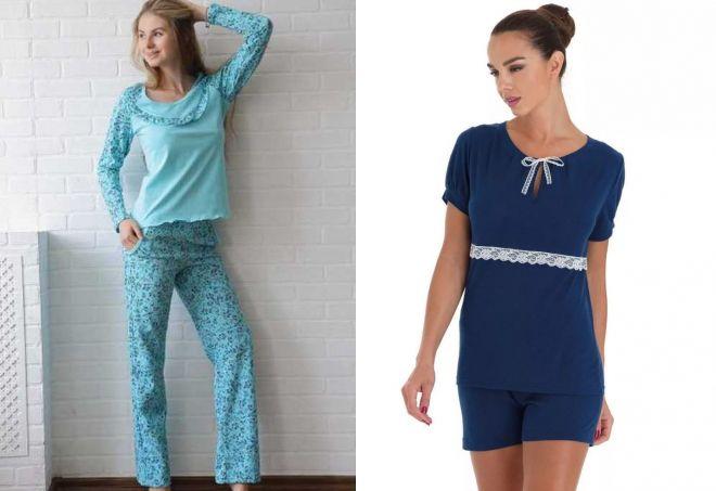 6ad6a5b77f5b Прикольная женская пижама – с шортами и комбинезон, шелковая и ...