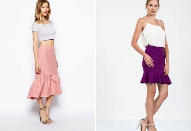 1b5ebd99c344b Модная джинсовая юбка с оборками – с чем носить?
