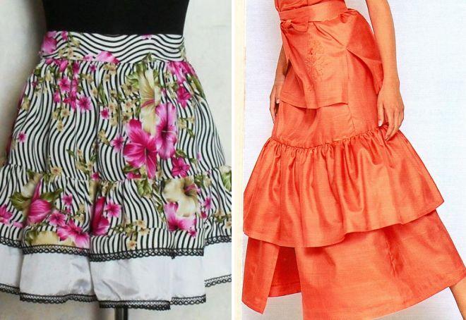 модная юбка с оборками