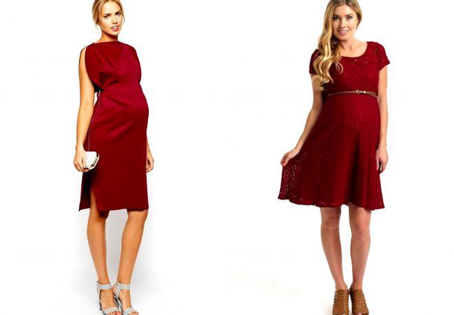 c62ea1b29dde974 Модные длинные и короткие вечерние платья для беременных