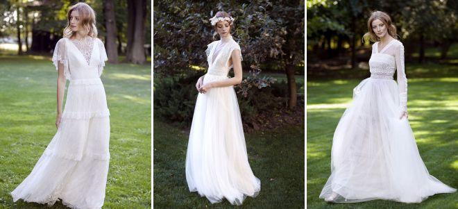 стильные и модные свадебные платья