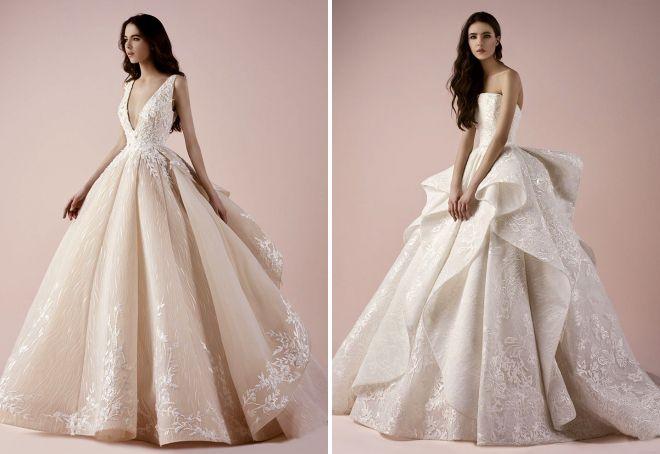 модные пышные свадебные платья