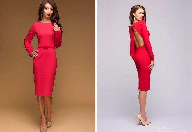 a395f0bc7aac19d Модное коралловое платье – подбираем украшения, макияж, маникюр и туфли