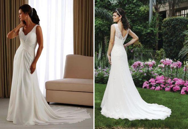 свадебное греческое платье со шлейфом