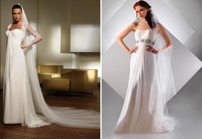 греческие свадебные платья с кружевом