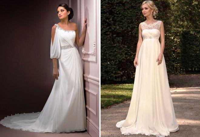 модные свадебные платья в греческом стиле