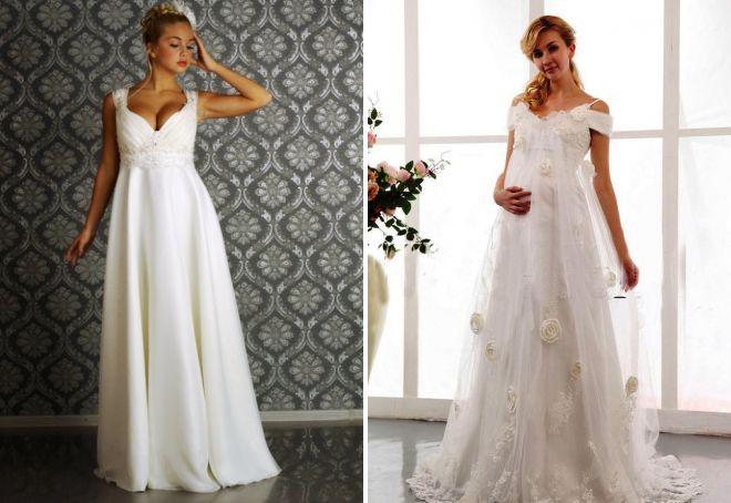модное свадебное платье в греческом стиле