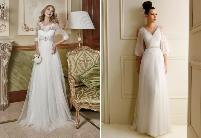 длинные греческие свадебные платья