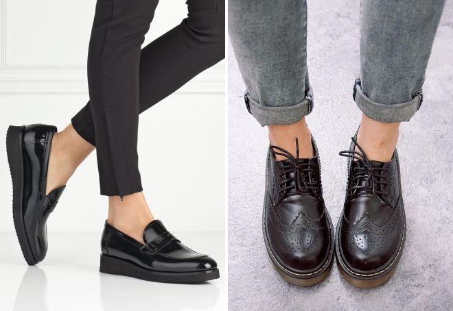 fd3c946aa Женские стильные кожаные ботинки – черные, кричневые, белые
