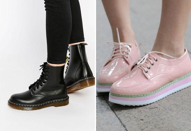 95959ca57 Женские стильные кожаные ботинки – черные, кричневые, белые