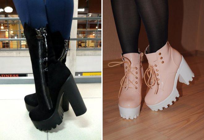 59f089e0 Женские стильные кожаные ботинки – черные, кричневые, белые