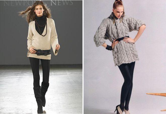 модные вязаные свитера для девушек