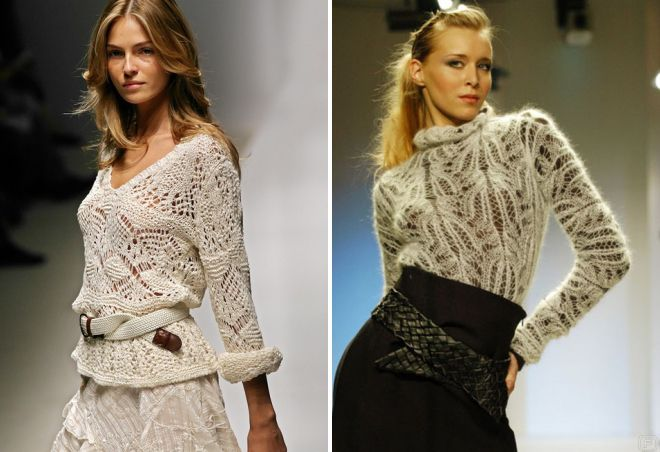 тонкий вязаный свитер