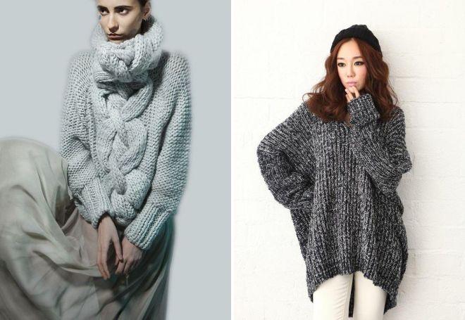 a96bec8e529 Модные и стильные модели вязаных свитеров – оверсайз