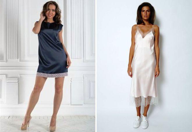 комбинация платье из шелка