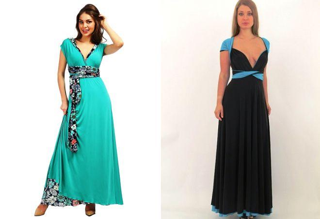 длинное платье-трансформер