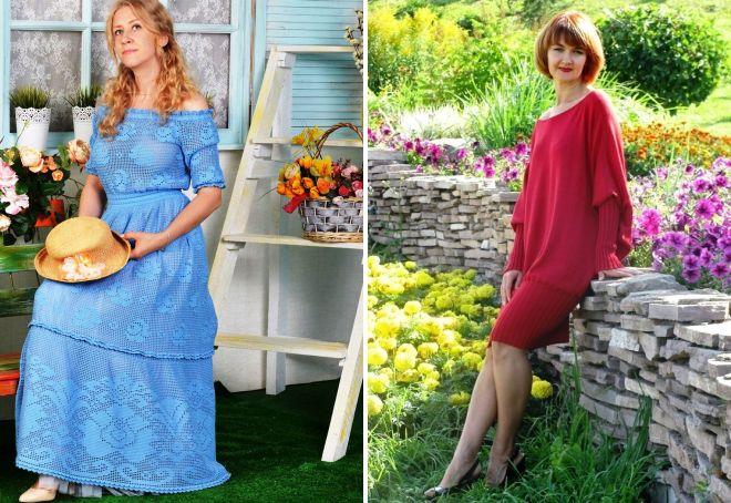 вязаное платье-трансформер