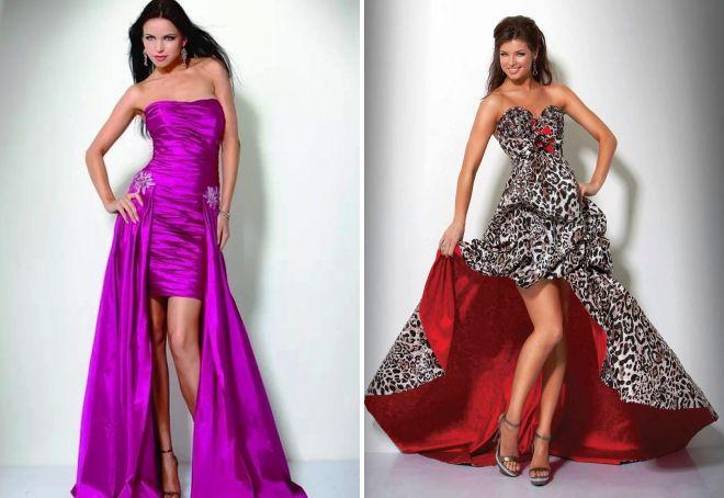 вечерние платья-трансформеры из длинного в короткое