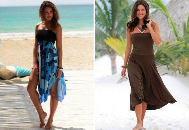 пляжное платье-трансформер