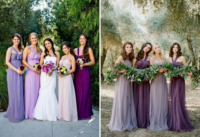 Красивые платья подружек невесты – 63 фото