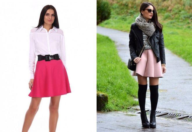 розовые короткие юбки