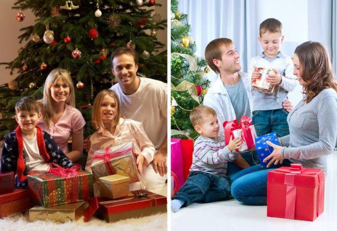 68daacbb0b0fb Семейная новогодняя фотосессия в студии – идеи, одежда, образы и ...