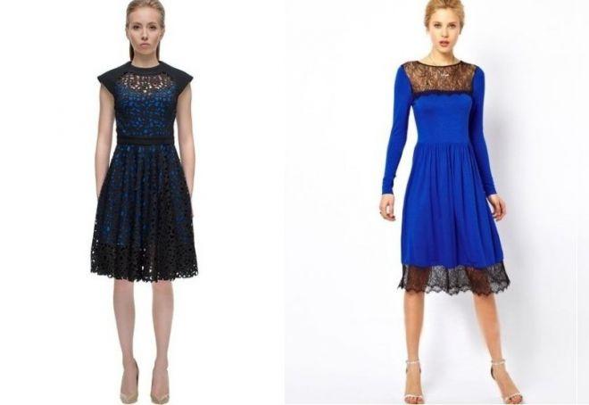 e401e561e7c634f С чем носить черно-синее платье – футляр или в пол, в полоску или с ...