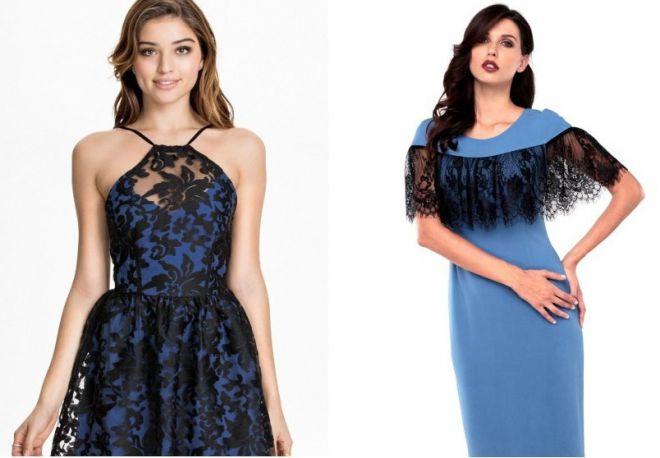 14c112f2486c6b8 С чем носить черно-синее платье – футляр или в пол, в полоску или с ...