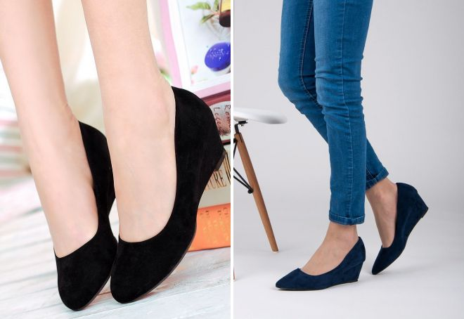 7ab23e11d Модные женские туфли на танкетке – черные, бежевые, красные, синие ...