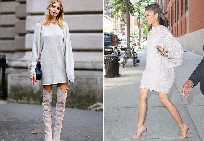 ca77d702266 Модные женские вязаные платья – ажурные на лето и теплые зимние