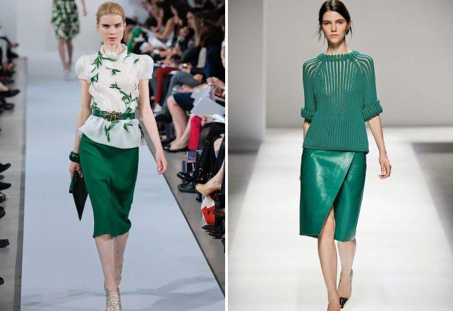 юбки зеленого цвета